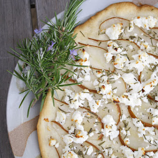 Pear Rosemary and Goat Cheese Foccacia
