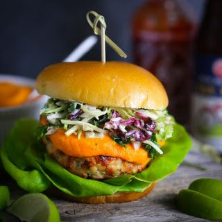 Thai Turkey Burgers with Spicy Carrot Ginger Sauce.