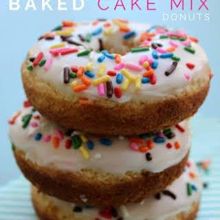 Baked Funfetti Cake Mix Donuts.