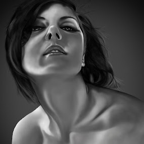 Emy by Daniele Salamone - Illustration People ( woman, portrait, sensual )