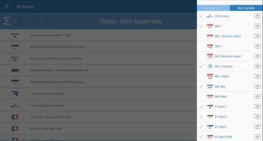 UK Live Sport TV Guide 2.01 screenshots 7