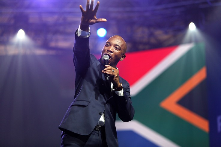 The Democratic Alliance's Mmusi Maimane.