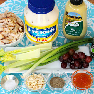Dill and Toasted Almond Chicken Salad with Grapes