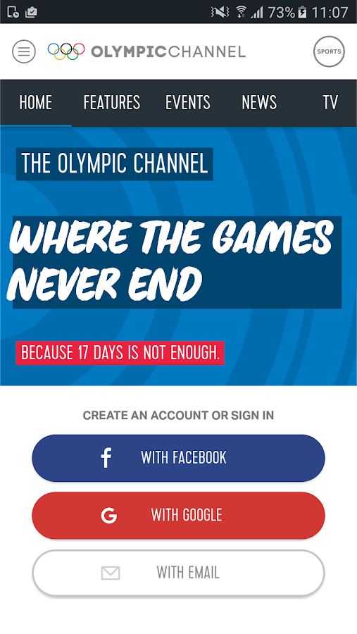 Olympic Channel- screenshot