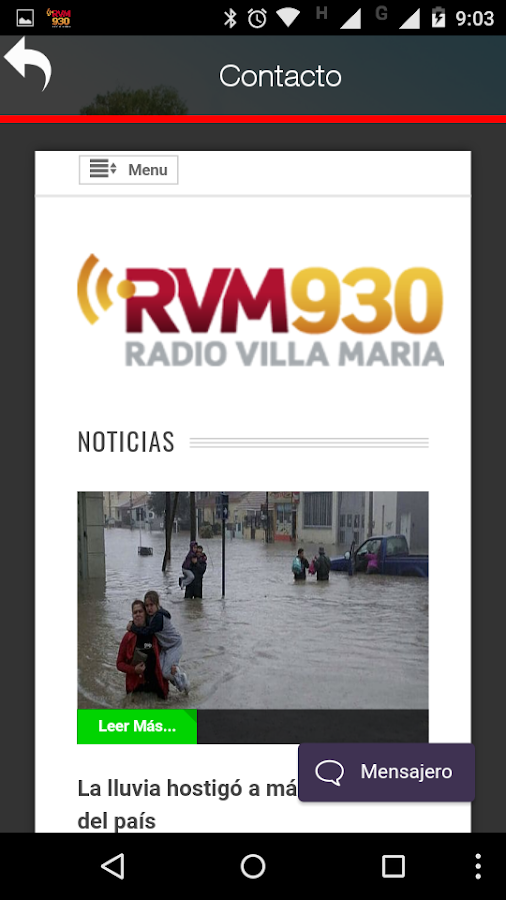 Radio Villa María LV28 AM930: captura de pantalla