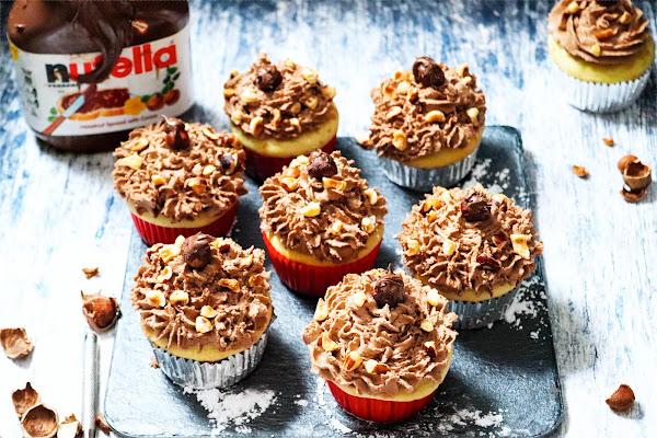 Vanilla Nutella Cupcakes Recipe