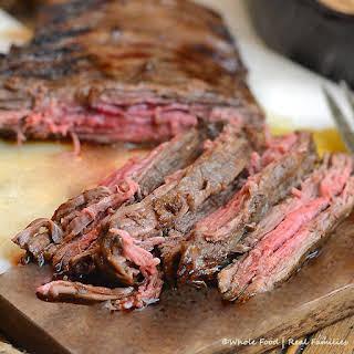 Cast Iron Flank Steak.