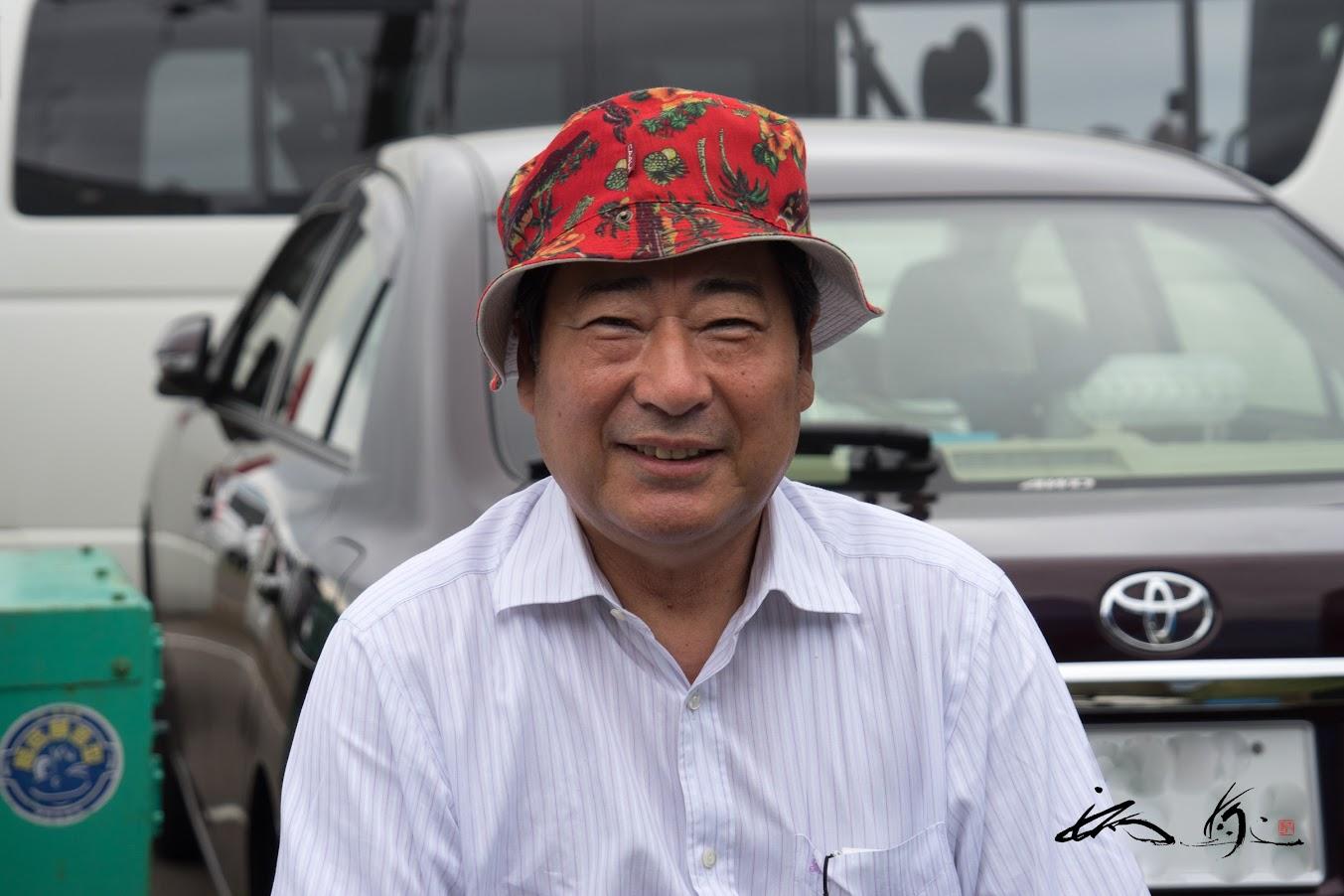 永澤二郎社長も優しい笑顔でおもてなし