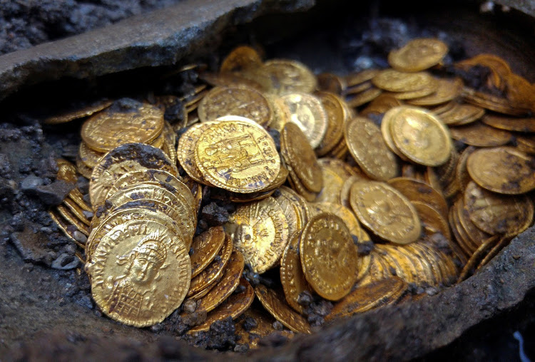 Ancient Roman gold coins. Picture: REUTERS