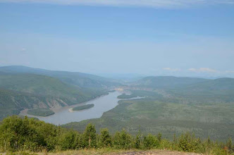 Photo: der Yukon unterhalb von Dawson City