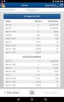 Screenshot of US Powerball & Mega Millions