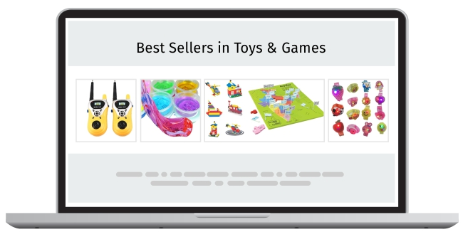 recommend best-selling products based on search history