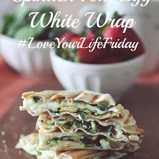 Spinach Feta Egg White Wrap