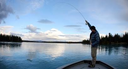 Photo: Guided fly fishing with Alaska Drift Away Fishing on Alaska's beautiful Kenai River.