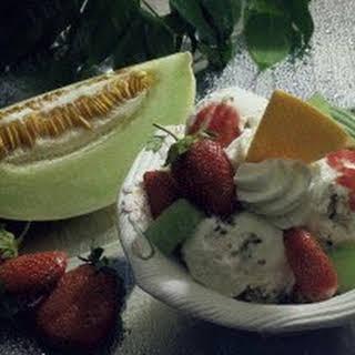 Erdbeer-Melonen-Eis.