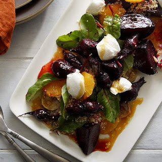 Winter Salad Of Roast Beetroot And Quinoa
