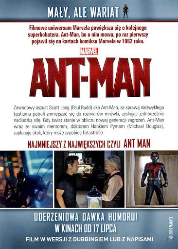 Tył ulotki filmu 'Ant-Man'