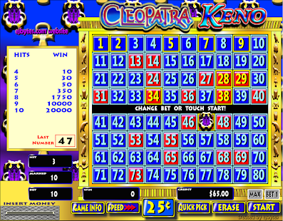 Free Slots Keno Cleopatra