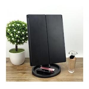 Oglinda cosmetica LED extensibila, buton tactil