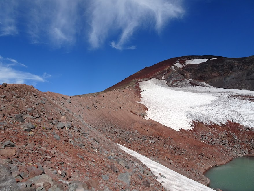 The soft, ashy ground makes climbing South Sister an endurance test