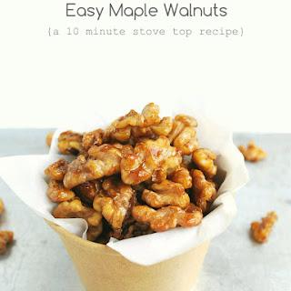 Easy Maple Walnuts (10 minute stove top recipe)