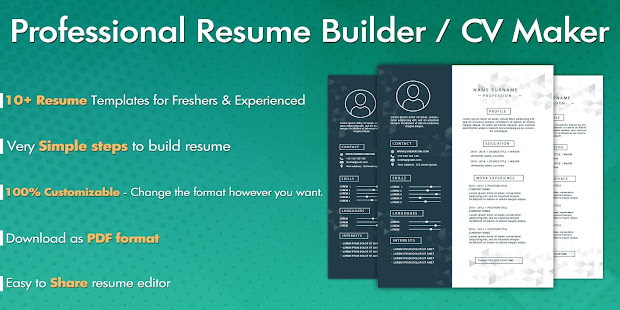 free resume builder cv maker app su google play