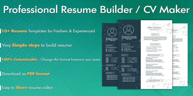 Free Resume Builder Cv Maker Apk Cracked Free Download Cracked