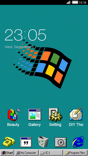 Windroid Theme for windows 95 PC Computer Launcher  screenshots 3