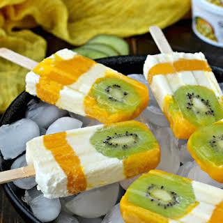 Tropical Sunshine Popsicles.