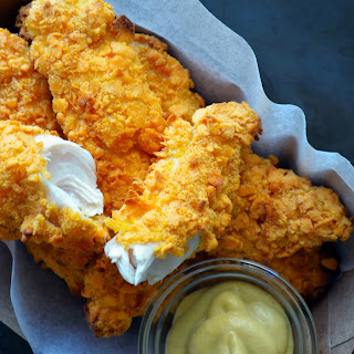 Baked Cheddar Dijon Chicken Tenders.