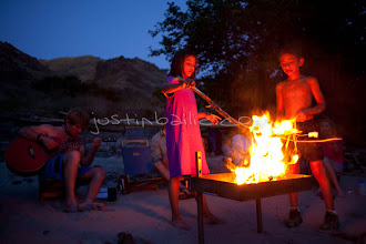 Photo: Roasting marshmallows while on a raft trip down Hell's Canyon of the Snake River, ID / OR. Hell's Canyon is the deepest canyon in North America.
