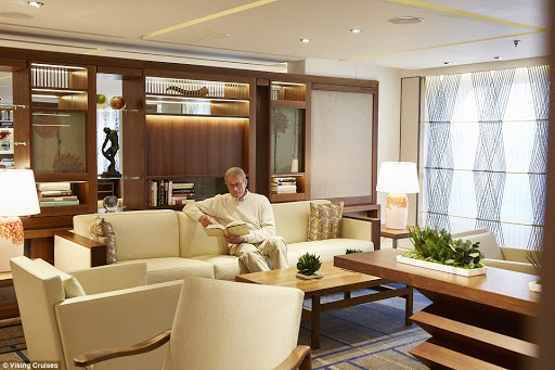 viking-living-room.jpg - Read in relaxation in the Living Room on your Viking ocean cruise.