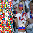 Flag Face Russia World Cup icon