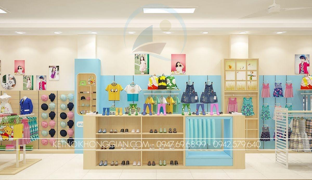 thiết kế shop thời trang trẻ em ngộ nghĩnh
