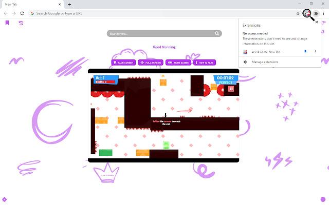 Vex 4 Game New Tab