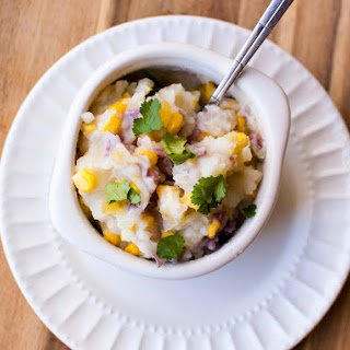 Chile Corn Mashed Potatoes - Simply Healthy.