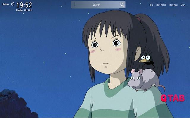 Spirited Away Wallpapers Theme Anime New Tab
