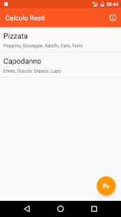 Calcolo Resti screenshot 4