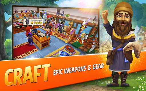 Shop Titans: Epic Idle Crafter, Build & Trade RPG modavailable screenshots 9