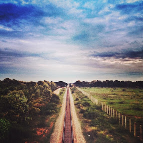 stil a long way to go.... by Abul Faizy S M - Instagram & Mobile iPhone ( love, life, railway, train, journey, india, travel, roadtrip )