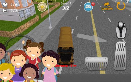 スクールバスの運転手の3D