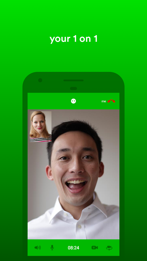 gridMe encrypted HD video chat- screenshot