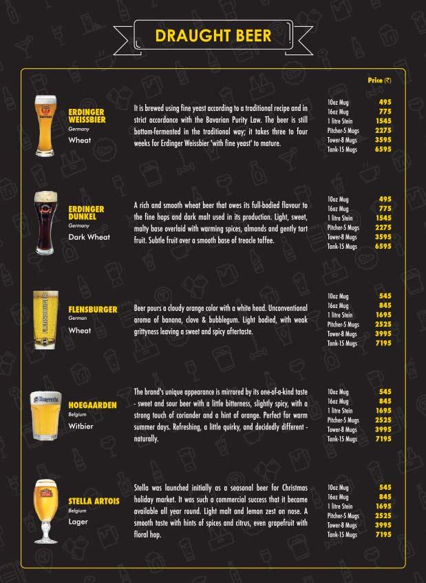 The Beer Cafe menu 2