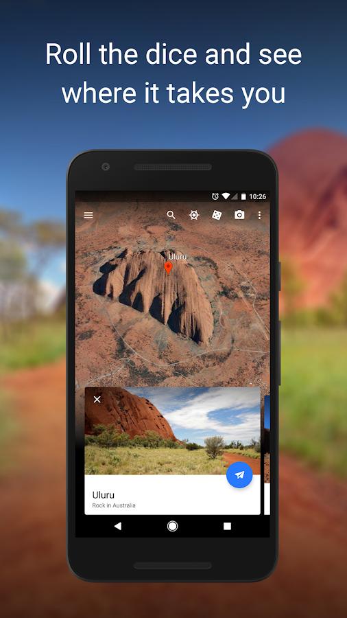 Screenshots of Google Earth for iPhone