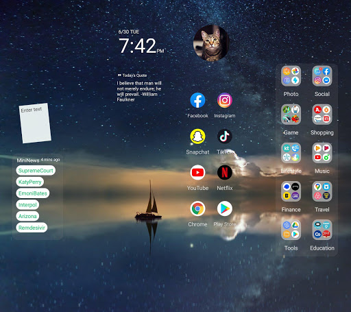 Wide Launcher - 2x wider, tile free decorating 1.3.0 screenshots 5