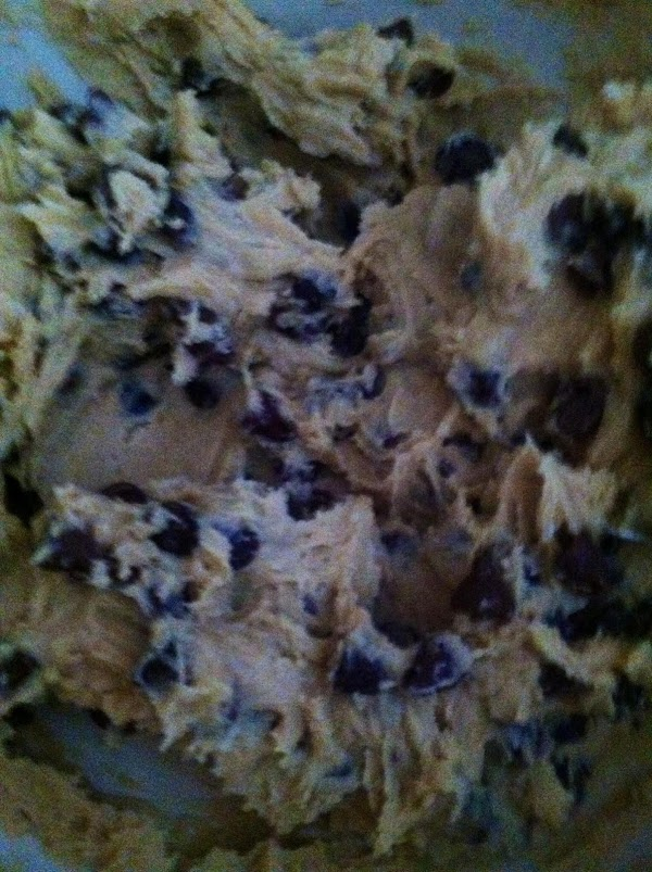 Add flour mixture to butter mixture. Stir well. Add toasted coconut chocolate chips and...