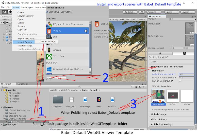 Babel default WebGL template