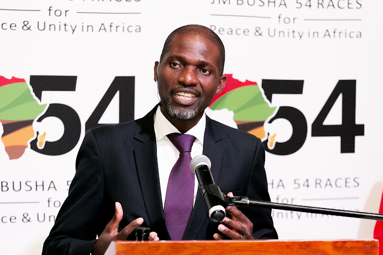JM Busha Investment Group CEO Joseph Busha launches the JM Busha 54 Races for Peace & Unity in Africa. Picture: SUPPLIED