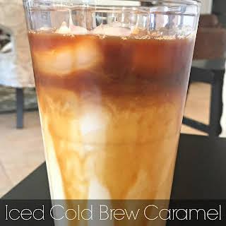 Iced Cold Brew Caramel Macchiato.