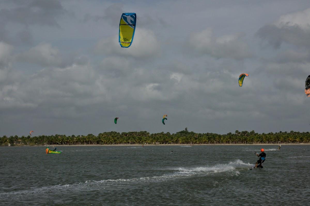 Sri. Lanka Kalpitiya Kiteboarding. Kalpitiya Lagoon on the resorts' side